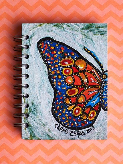 430x575 - Cuaderno Pequeño Mariposa X Carlos Zerpa