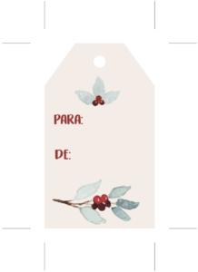 Etiqueta, Tag de Navidad, 2018, merarda, lepapillon, shoplepapillon